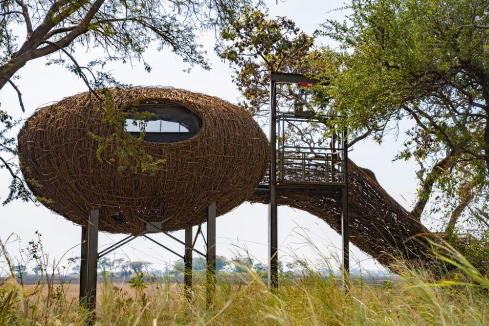 Nest suite with elevator at Chisa Busanga Camp built for travellers with disabilities